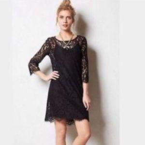Anthropologie HD in Paris lace shift dress w/ slip